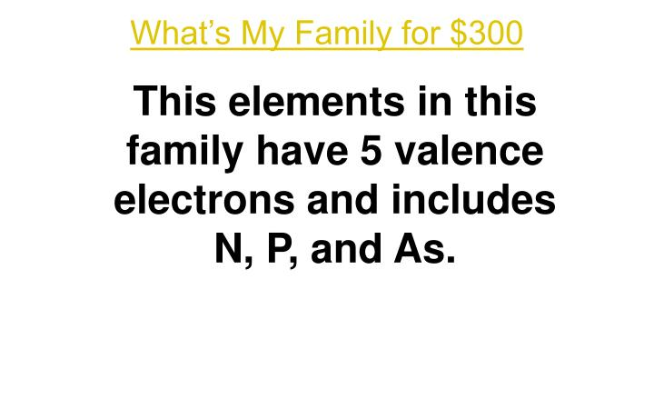 What's My Family for $300