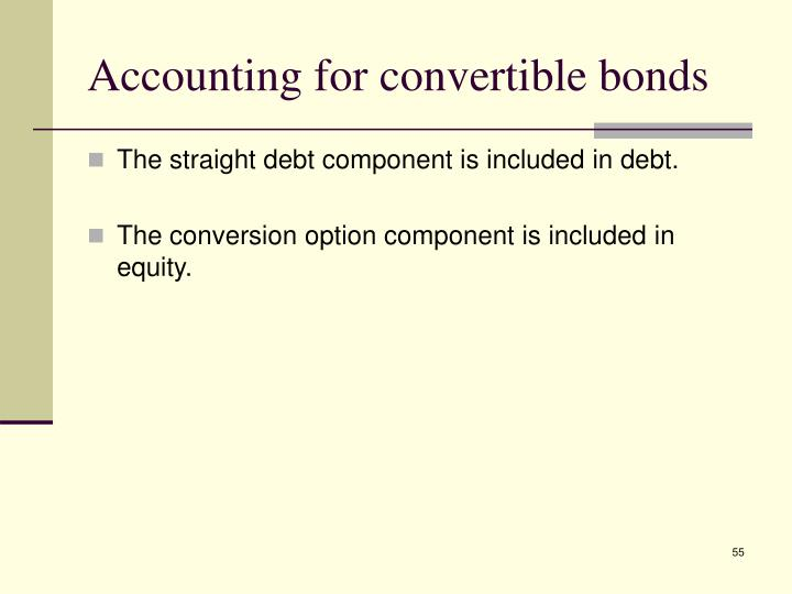 Accounting for convertible bonds