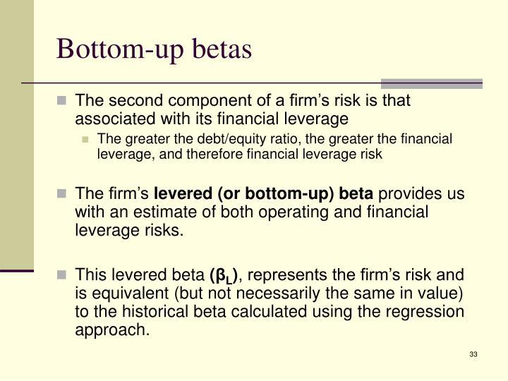 Bottom-up betas