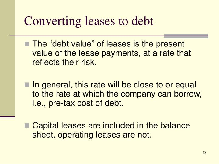 Converting leases to debt