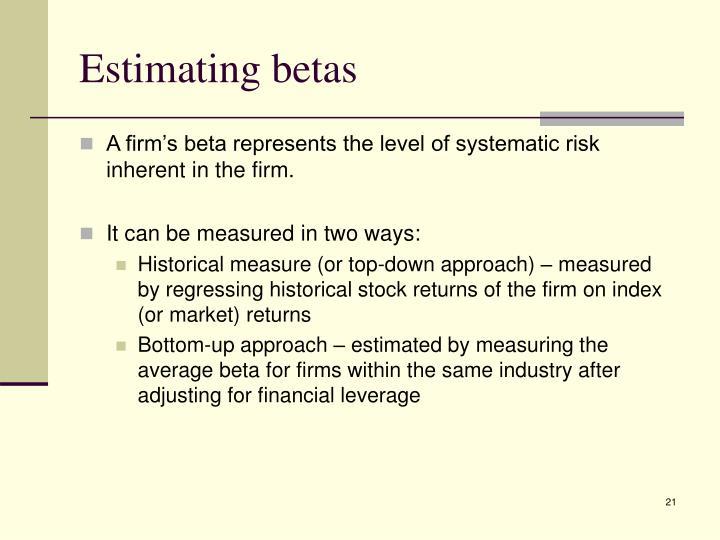 Estimating betas