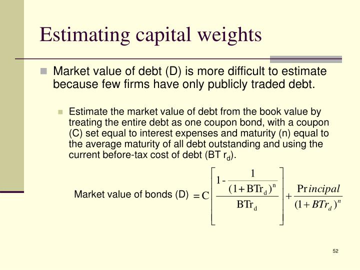 Estimating capital weights