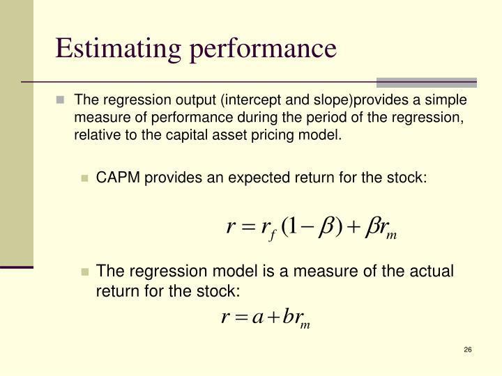 Estimating performance