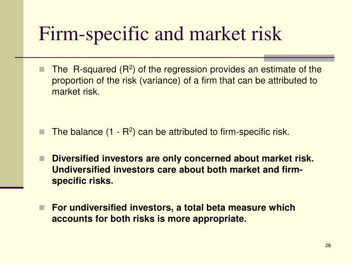 Firm-specific and market risk