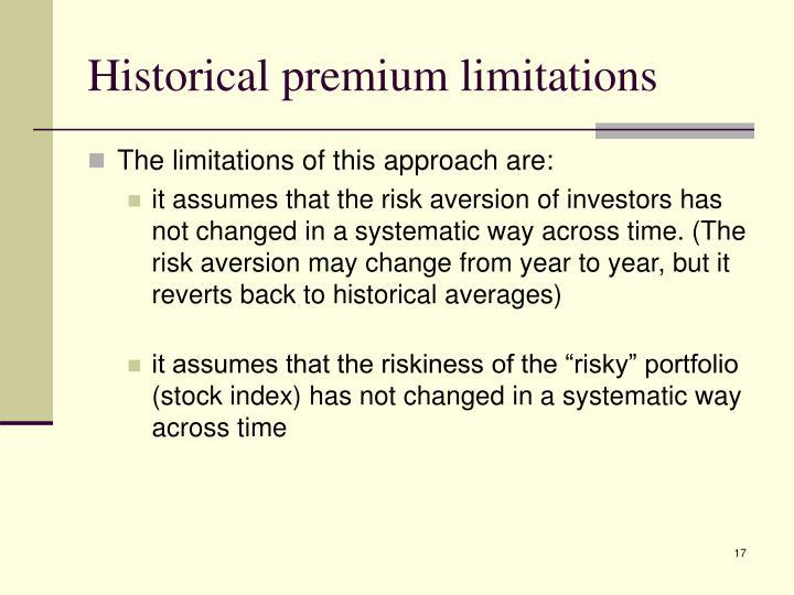Historical premium limitations