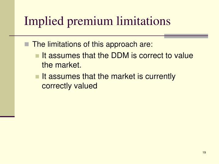 Implied premium limitations