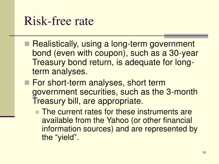 Risk-free rate