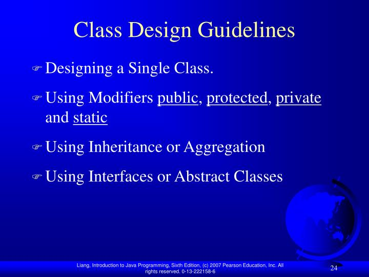 Class Design Guidelines