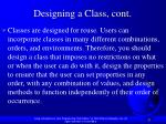 designing a class cont1