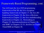 framework based programming cont1
