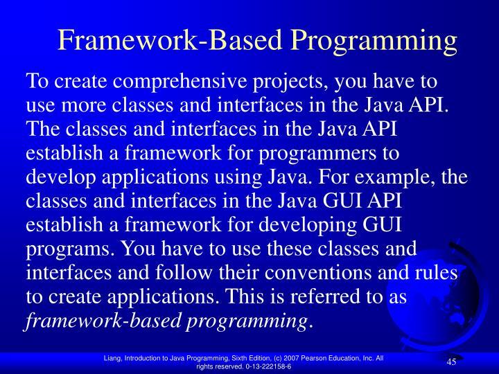 Framework-Based Programming