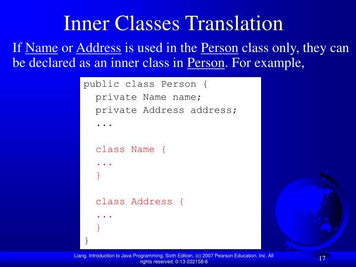 Inner Classes Translation