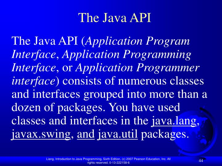 The Java API