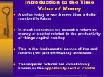 introduction to the time value of money
