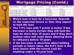 mortgage pricing contd