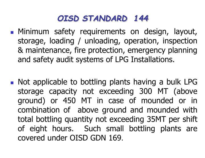OISD STANDARD  144
