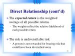 direct relationship cont d1