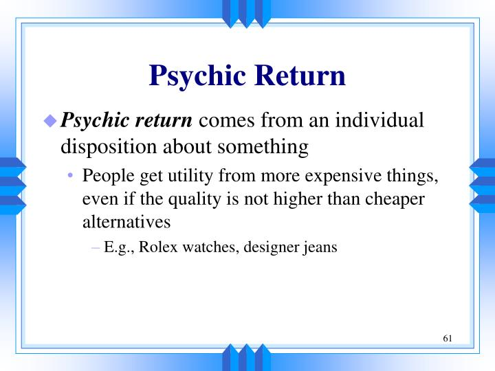 Psychic Return