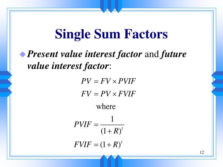 Single Sum Factors