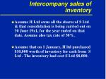 intercompany sales of inventory