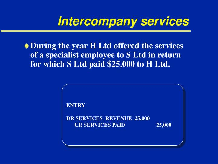 Intercompany services
