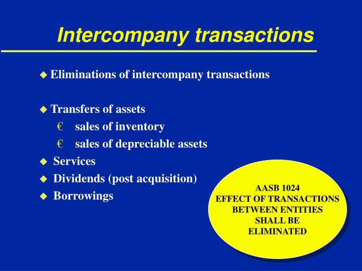 Intercompany transactions