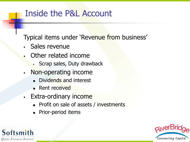 Inside the P&L Account