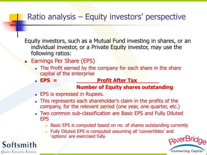 Ratio analysis – Equity investors' perspective