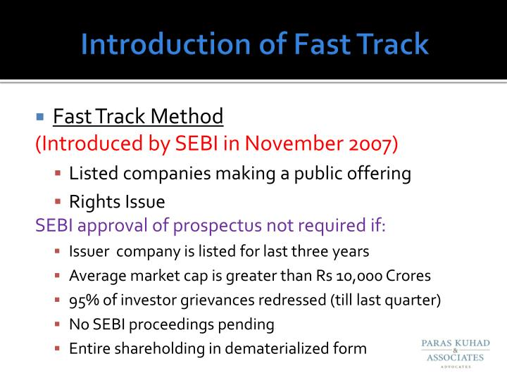 Introduction of Fast Track