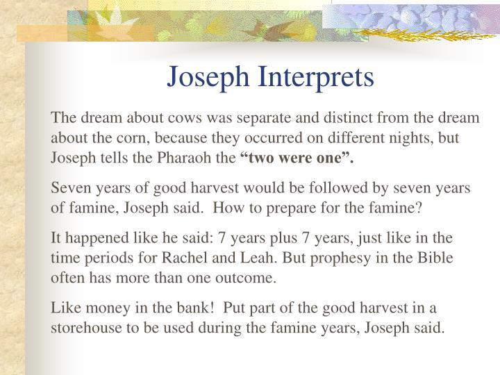 Joseph Interprets