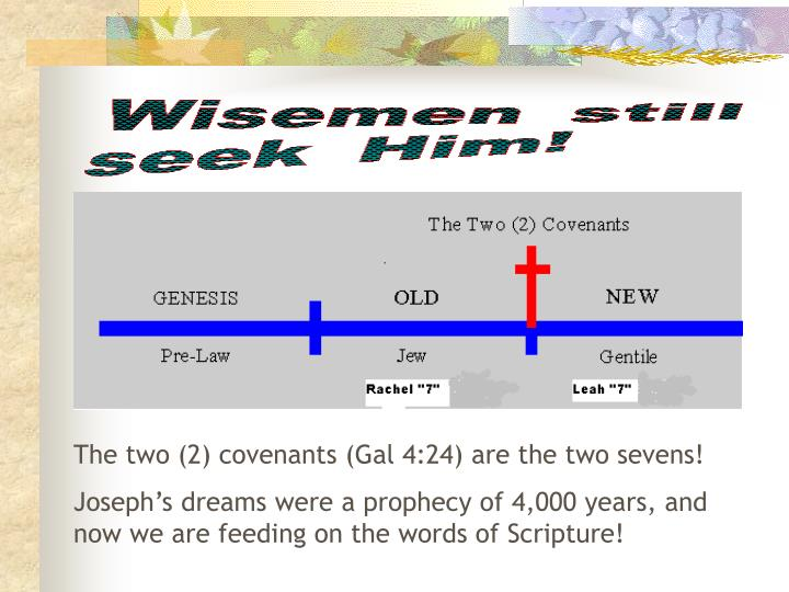 The two (2) covenants (Gal 4:24) are the two sevens!