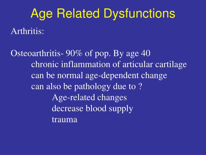 Age Related Dysfunctions