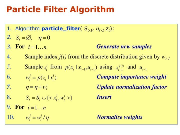 Particle Filter Algorithm