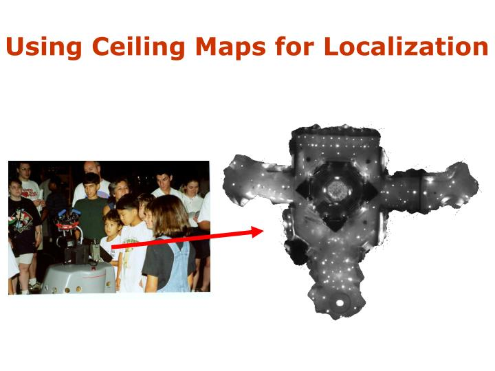 Using Ceiling Maps for Localization
