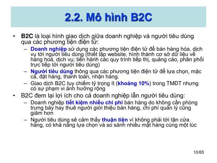 2.2. Mô hình B2C