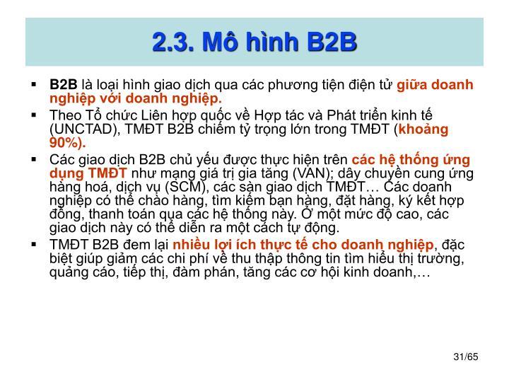 2.3. Mô hình B2B
