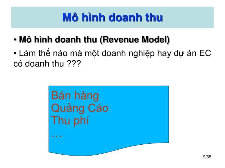Mô hình doanh thu