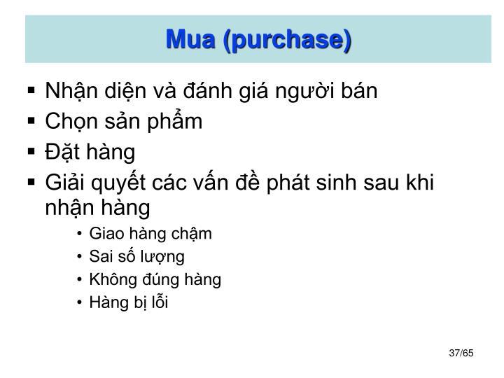 Mua (purchase)