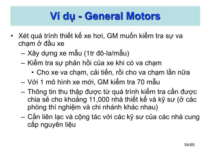 Ví dụ - General Motors