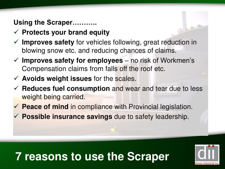 Using the Scraper………..