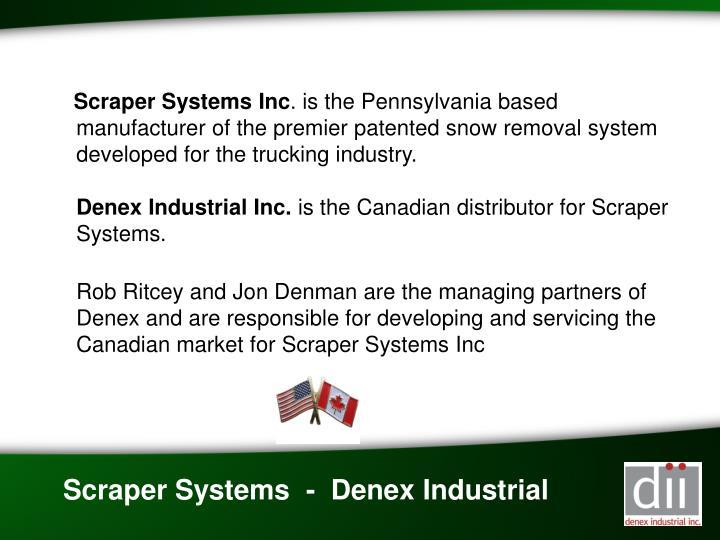 Scraper Systems Inc