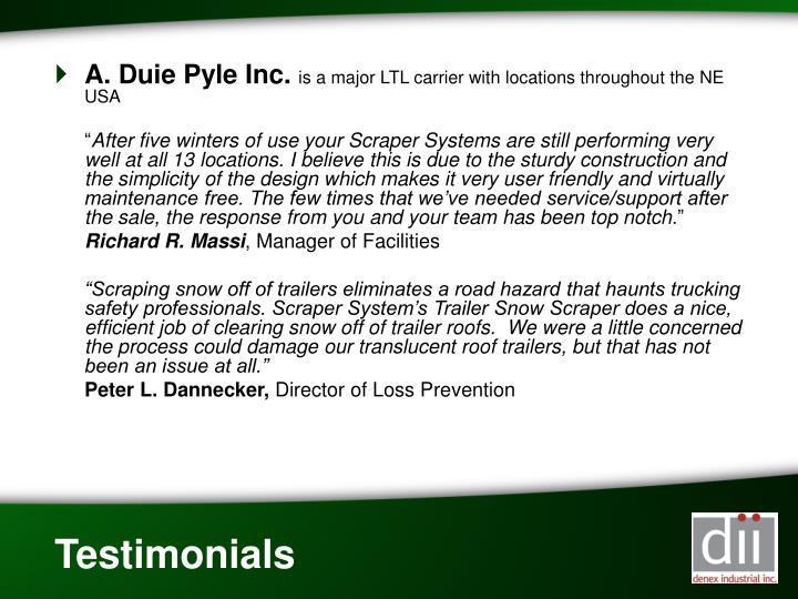 A. Duie Pyle Inc.