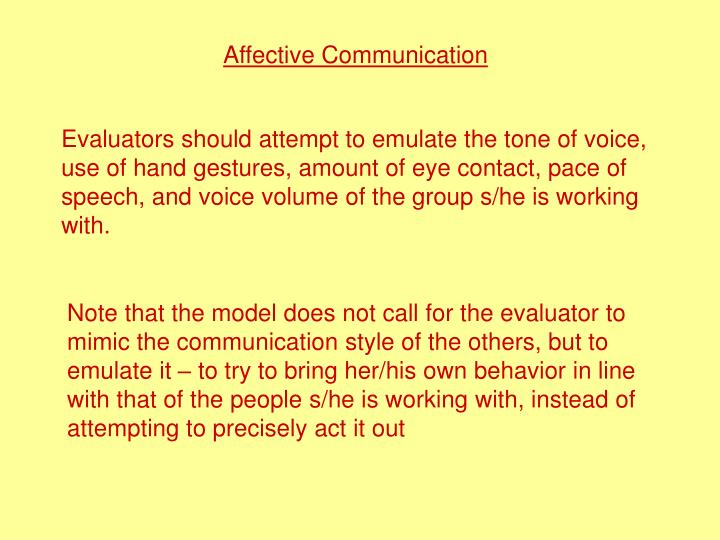 Affective Communication