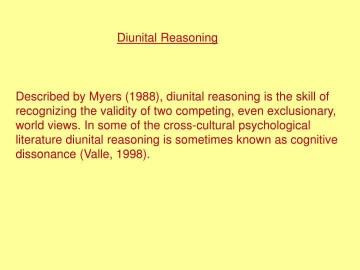 Diunital Reasoning