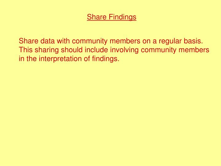 Share Findings