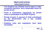 privatization implementation