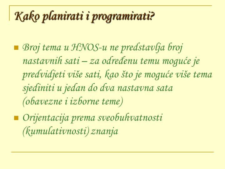 Kako planirati i programirati?