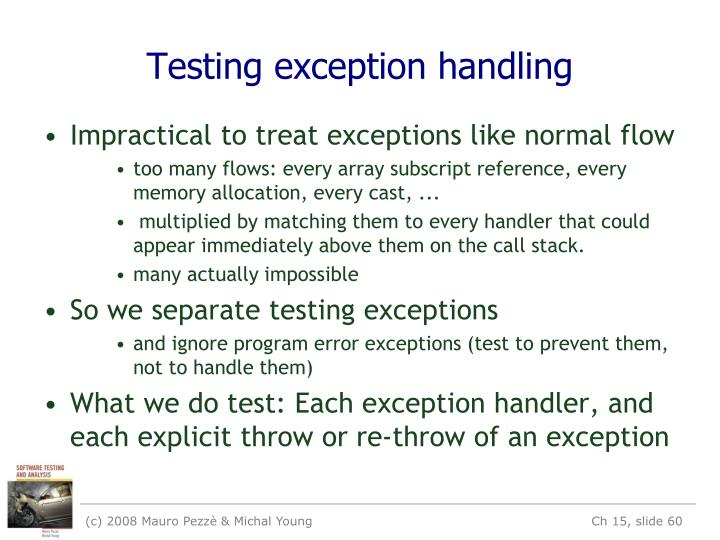 Testing exception handling