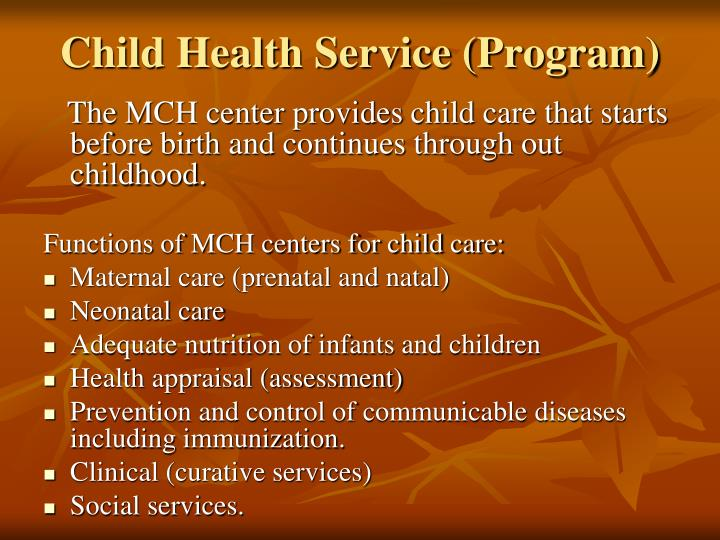 Child Health Service (Program)