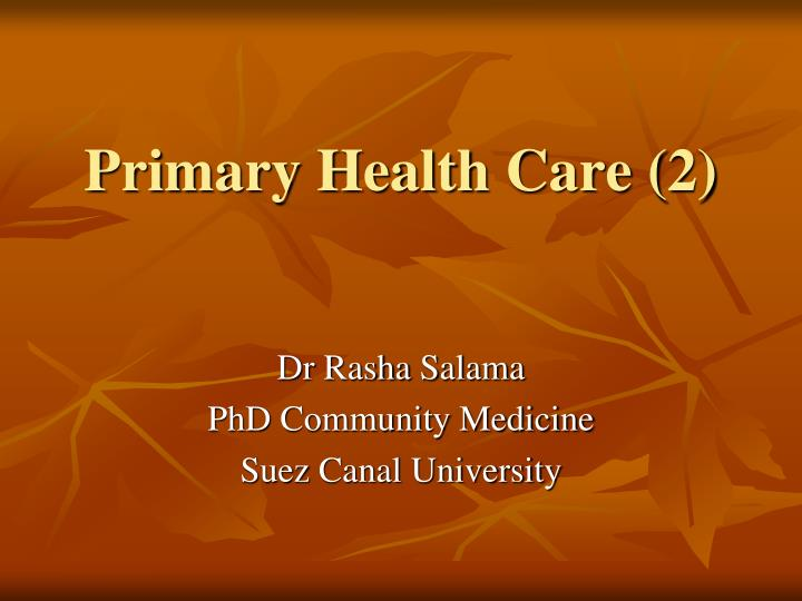 Primary health care 2